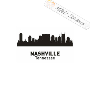 2x American Nashville City Skyline Vinyl Decal Sticker Different colors & size for Cars/Bikes/Windows