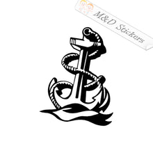 2x Navy Anchor Vinyl Decal Sticker Different colors & size for Cars/Bikes/Windows