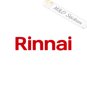2x Rinnai water heaters Logo Vinyl Decal Sticker Different colors & size for Cars/Bikes/Windows
