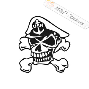 2x US Navy skull Vinyl Decal Sticker Different colors & size for Cars/Bikes/Windows