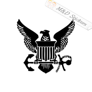 2x US Navy Vinyl Decal Sticker Different colors & size for Cars/Bikes/Windows