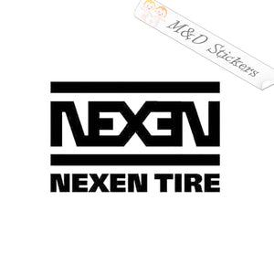 2x Nexen Tires Logo Vinyl Decal Sticker Different colors & size for Cars/Bikes/Windows