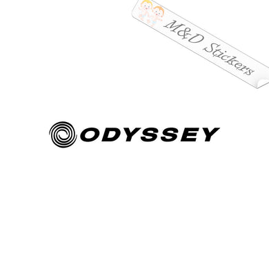 2x Odyssey Golf Logo Vinyl Decal Sticker Different colors & size for Cars/Bikes/Windows