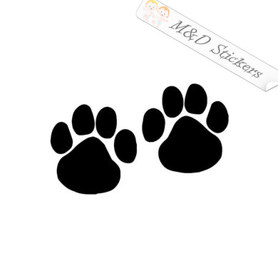 2x Paws Vinyl Decal Sticker Different colors & size for Cars/Bikes/Windows