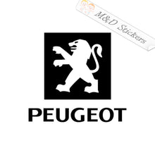 2x Peugeot Logo Decal Sticker Different colors & size for Cars/Bikes/Windows
