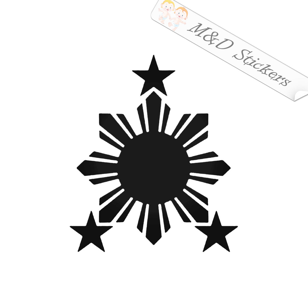 2x Philippines Sun Flag Vinyl Decal Sticker Different colors & size for Cars/Bikes/Windows