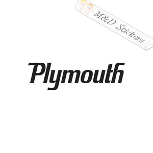 2x Plymouth Logo Vinyl Decal Sticker Different colors & size for Cars/Bikes/Windows