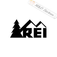 2x REI Logo Vinyl Decal Sticker Different colors & size for Cars/Bikes/Windows