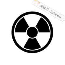 2x Radioactive Sign Vinyl Decal Sticker Different colors & size for Cars/Bikes/Windows
