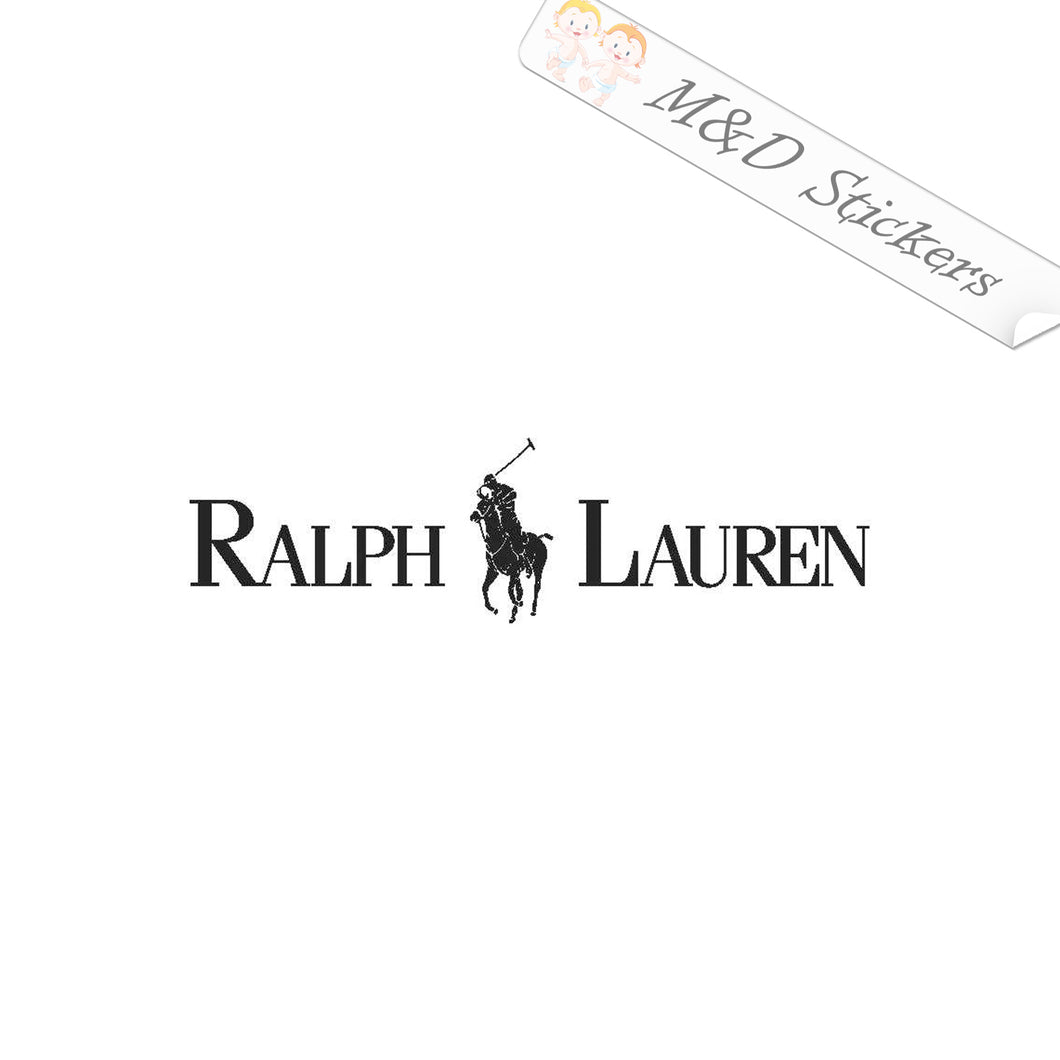 2x Ralph Lauren Logo Vinyl Decal Sticker Different colors & size for Cars/Bikes/Windows