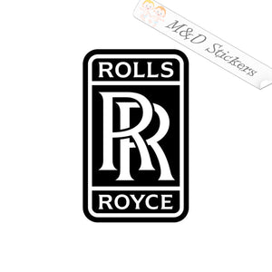 2x Rolls Royce Logo Vinyl Decal Sticker Different colors & size for Cars/Bikes/Windows