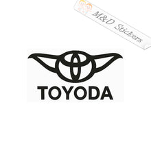 2x Toyoda funny Vinyl Decal Sticker Different colors & size for Cars/Bikes/Windows