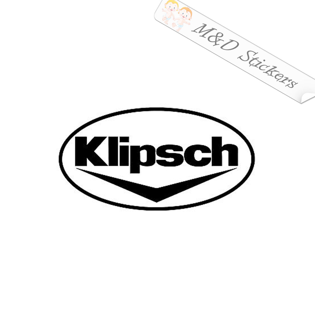 2x Klipsch Vinyl Decal Sticker Different colors & size for Cars/Bikes/Windows