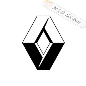 2x Renault Logo Decal Sticker Different colors & size for Cars/Bikes/Windows