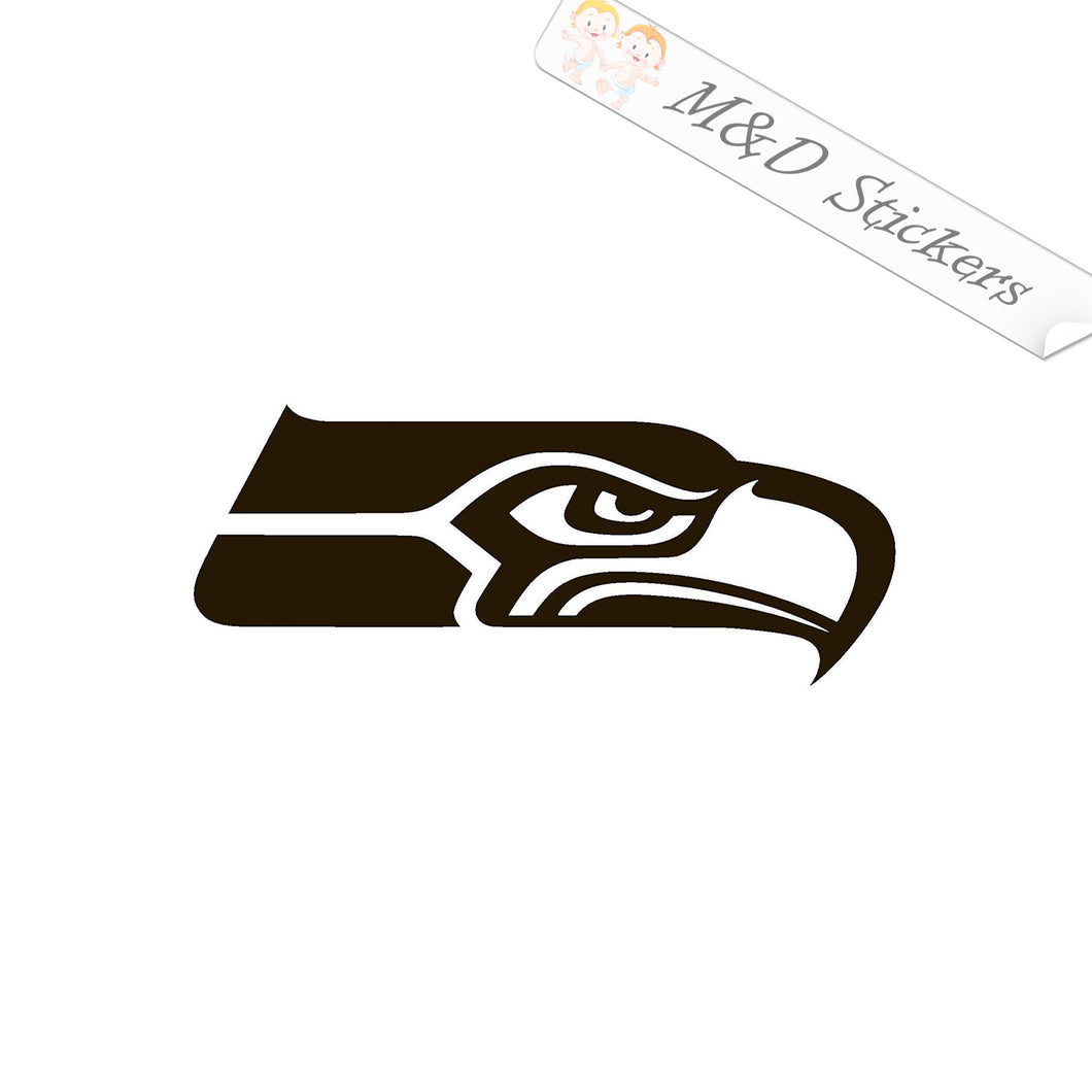 2x Seattle Seahawks Vinyl Decal Sticker Different colors & size for Cars/Bikes/Windows