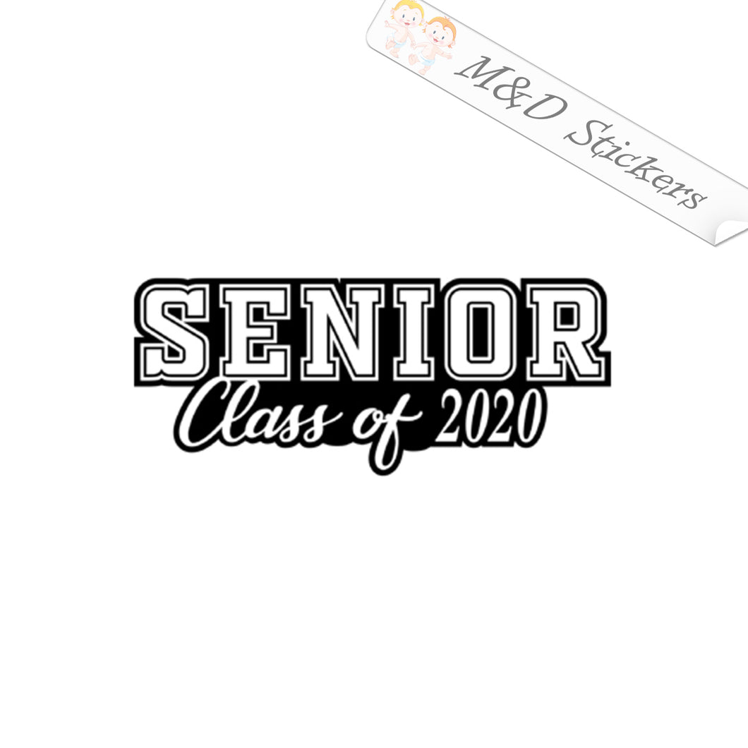 2x Senior Class of 2020 Vinyl Decal Sticker Different colors & size for Car/Bikes/Windows