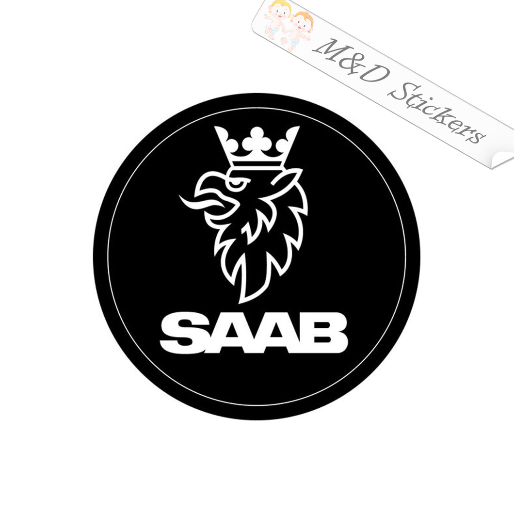 2x Saab Griffin Logo Vinyl Decal Sticker Different colors & size for Cars/Bikes/Windows