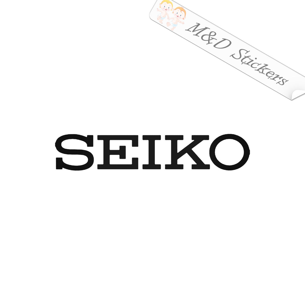 2x Seiko Watch Logo Vinyl Decal Sticker Different colors & size for Cars/Bikes/Windows