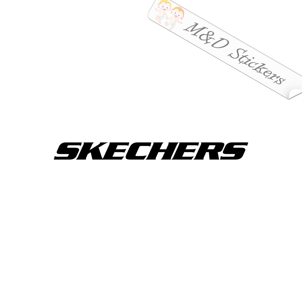 2x Skechers Logo Vinyl Decal Sticker Different colors & size for Cars/Bikes/Windows