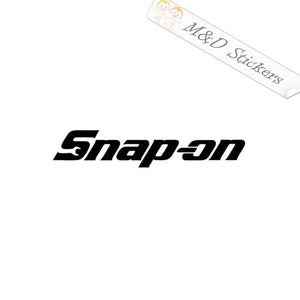 2x Snap-on Logo Vinyl Decal Sticker Different colors & size for Cars/Bikes/Windows