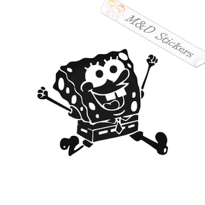 2x Spongebob Square Pants Vinyl Decal Sticker Different colors & size for Cars/Bikes/Windows