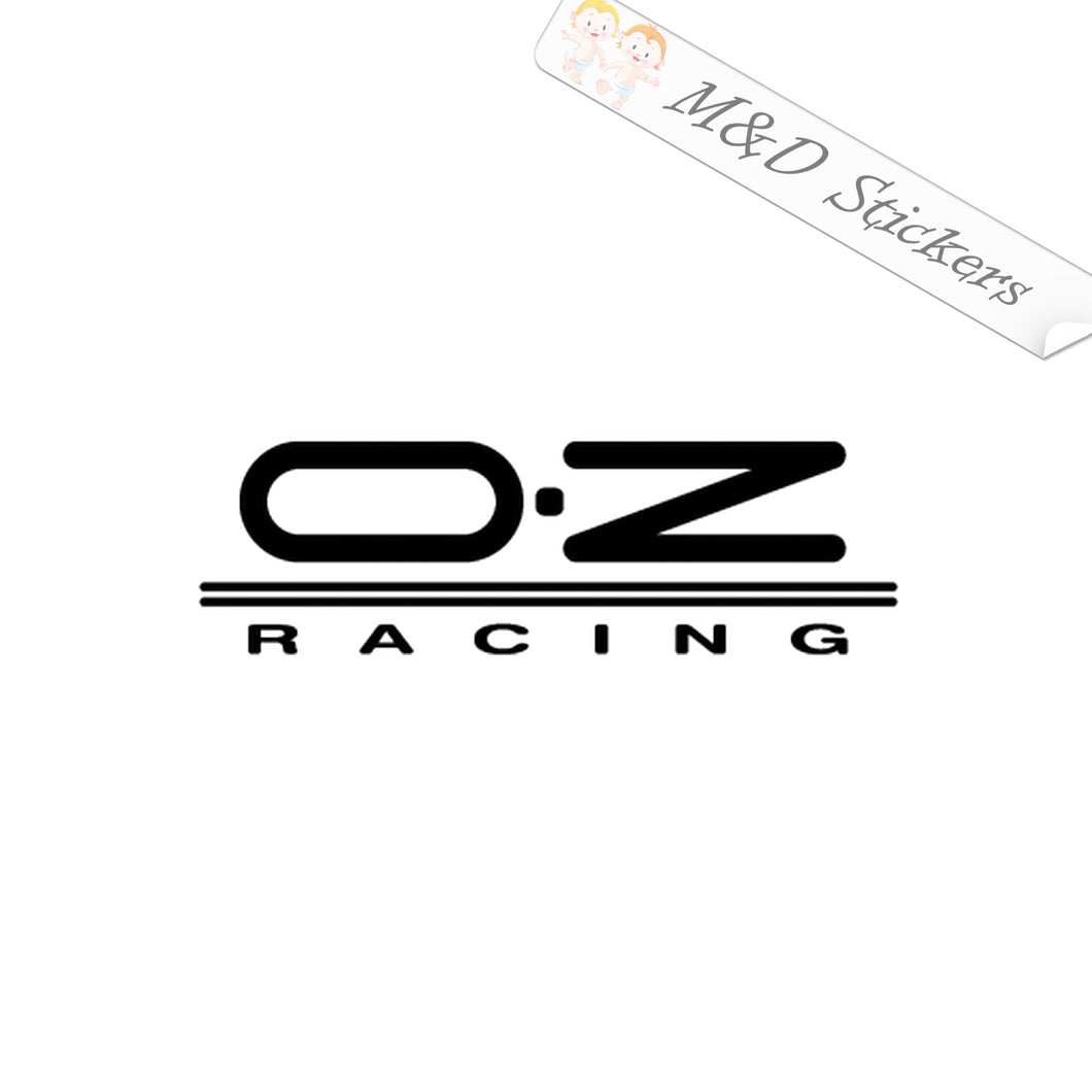 2x OZ racing Vinyl Decal Sticker Different colors & size for Cars/Bikes/Windows