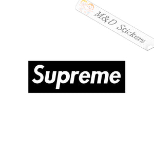 2x Supreme Logo Vinyl Decal Sticker Different colors & size for Cars/Bikes/Windows
