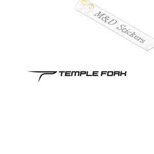 2x Temple Fork TFO Fishing Rods Vinyl Decal Sticker Different colors & size for Cars/Bikes/Windows