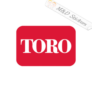 2x Toro Logo Vinyl Decal Sticker Different colors & size for Cars/Bikes/Windows