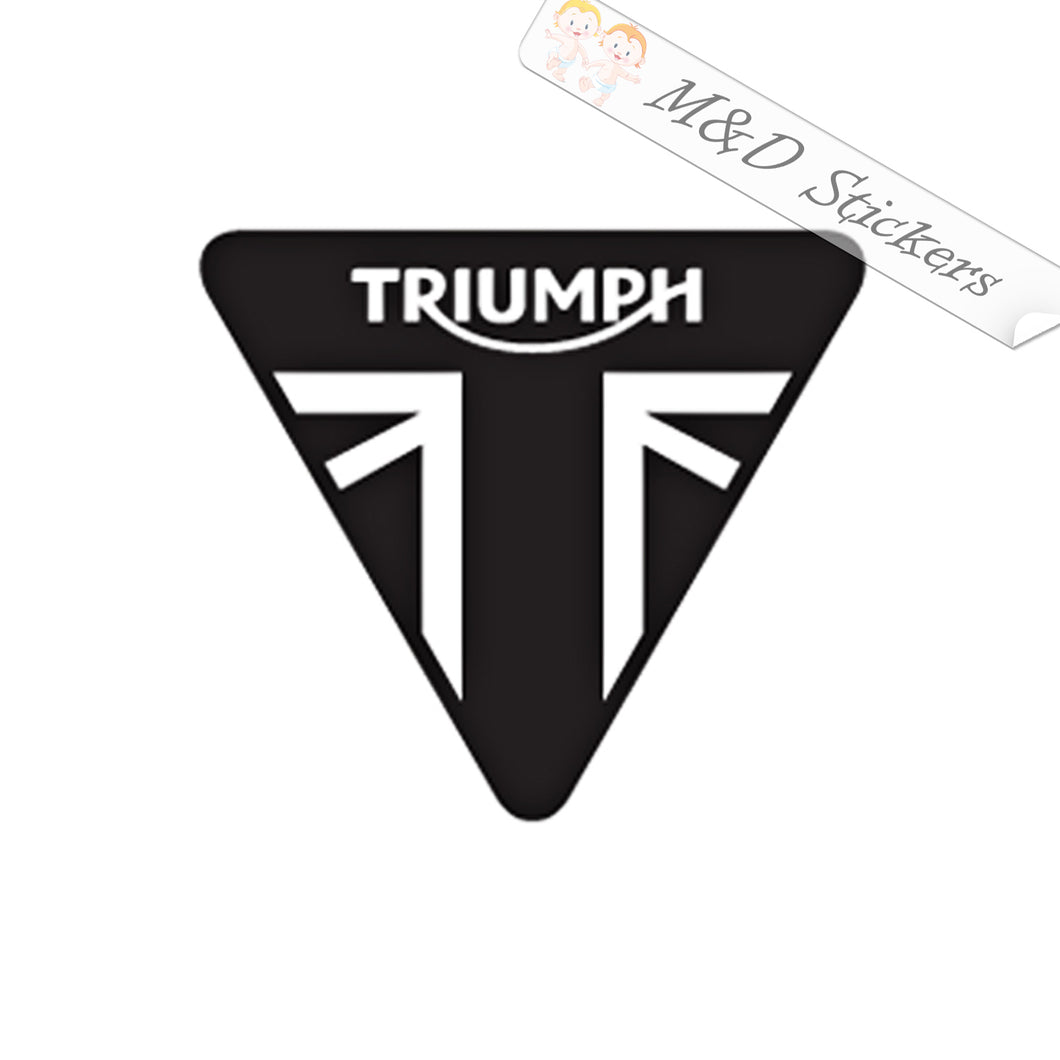 2x Triumph Logo Vinyl Decal Sticker Different colors & size for Cars/Bikes/Windows