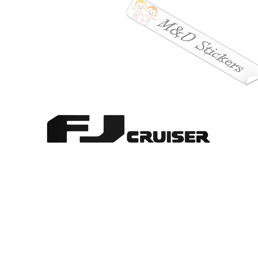 2x Toyota FJ Cruiser Vinyl Decal Sticker Different colors & size for Cars/Bikes/Windows