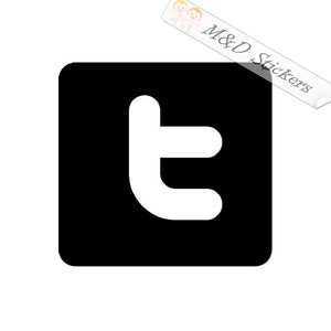 2x Twitter Logo Vinyl Decal Sticker Different colors & size for Cars/Bikes/Windows