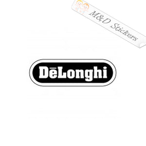 2x DeLonghi coffee maker logo Vinyl Decal Sticker Different colors & size for Cars/Bikes/Windows