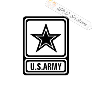 2x US Army Logo Vinyl Decal Sticker Different colors & size for Cars/Bikes/Windows