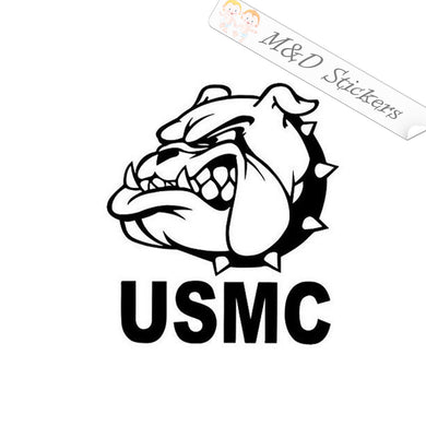 2x USMC Bulldog Vinyl Decal Sticker Different colors & size for Cars/Bikes/Windows