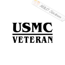 2x USMC Veteran Marines Vinyl Decal Sticker Different colors & size for Cars/Bikes/Windows