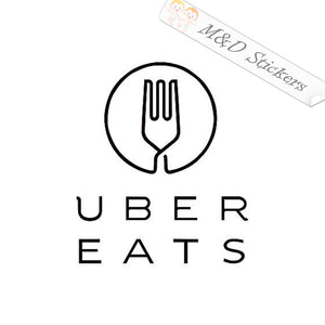2x Uber Eats Logo Vinyl Decal Sticker Different colors & size for Cars/Bikes/Windows
