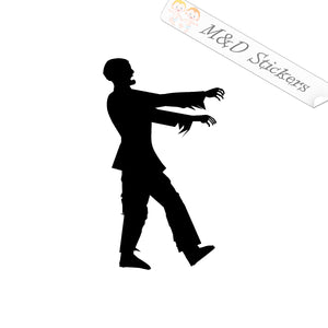 2x Zombie Vinyl Decal Sticker Different colors & size for Cars/Bikes/Windows