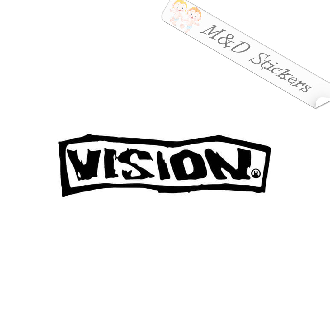 2x Vision skateboards Logo Vinyl Decal Sticker Different colors & size for Cars/Bikes/Windows