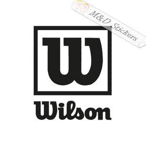 2x Wilson Logo Vinyl Decal Sticker Different colors & size for Cars/Bikes/Windows