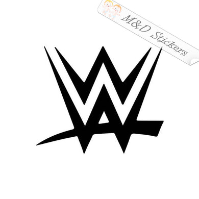 2x WWE Logo Vinyl Decal Sticker Different colors & size for Cars/Bikes/Windows