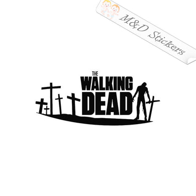 2x The Walking Dead Vinyl Decal Sticker Different colors & size for Cars/Bikes/Windows