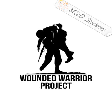2x Wounded warrior Vinyl Decal Sticker Different colors & size for Cars/Bikes/Windows