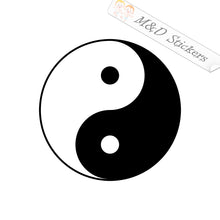 2x Yin Yang Vinyl Decal Sticker Different colors & size for Cars/Bikes/Windows