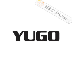 2x Yugo car logo Vinyl Decal Sticker Different colors & size for Cars/Bikes/Windows