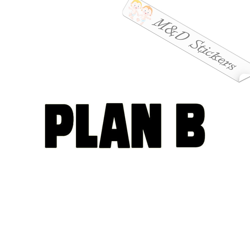 2x Plan B skateboards Logo Vinyl Decal Sticker Different colors & size for Cars/Bikes/Windows