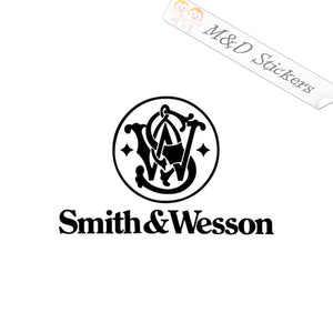 2x Smith & Wesson guns Logo Vinyl Decal Sticker Different colors & size for Cars/Bikes/Windows
