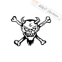 2x Devil crossbones Vinyl Decal Sticker Different colors & size for Cars/Bikes/Windows
