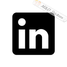2x LinkedIn Logo Vinyl Decal Sticker Different colors & size for Cars/Bikes/Windows