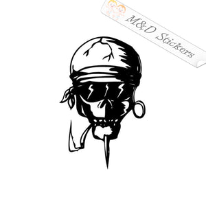 2x Burnout Skull Vinyl Decal Sticker Different colors & size for Cars/Bikes/Windows